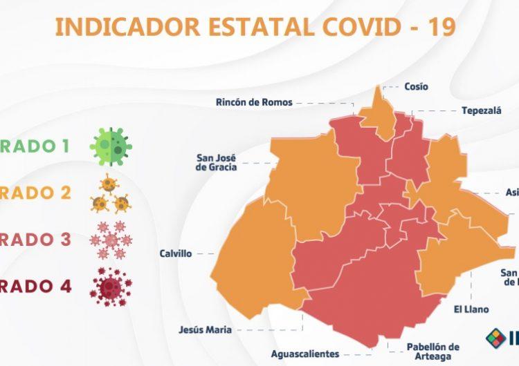 Ya son cinco municipios de Aguascalientes en color amarillo del Indicador Covid