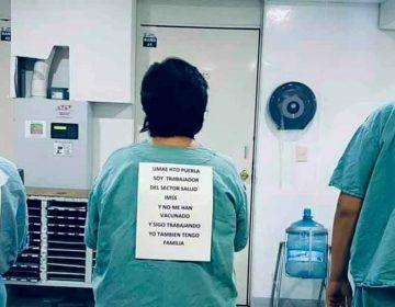 Manifestación virtual, personal del IMSS no ha sido vacunado