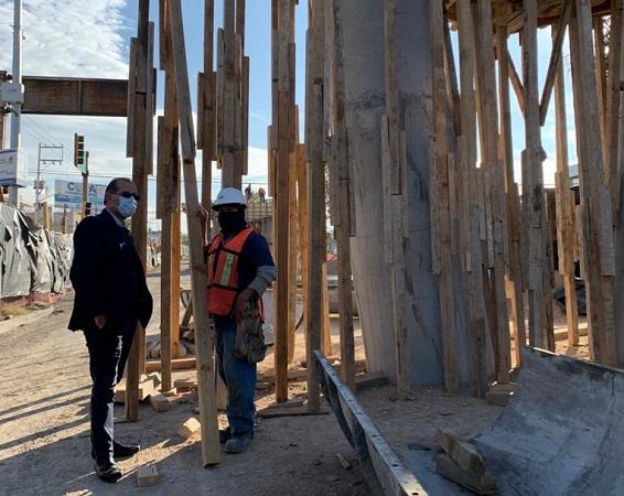 A un 30% de avance, construcción de paso a desnivel en Segundo Anillo y Parras
