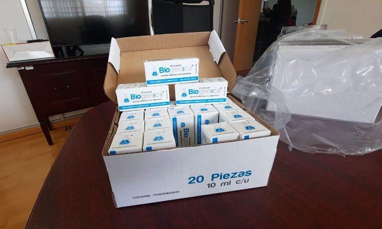 Asegura Guardia Sanitaria cajas de suplemento alimenticio que se vendía para 'curar el Covid-19'