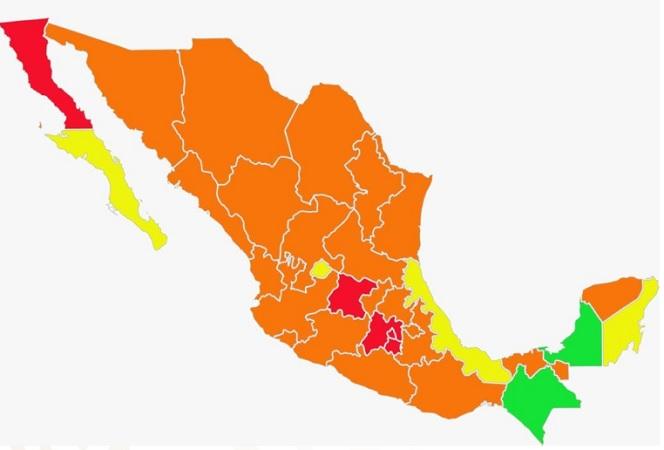 Pasa Aguascalientes al color amarillo del semáforo epidemiológico federal