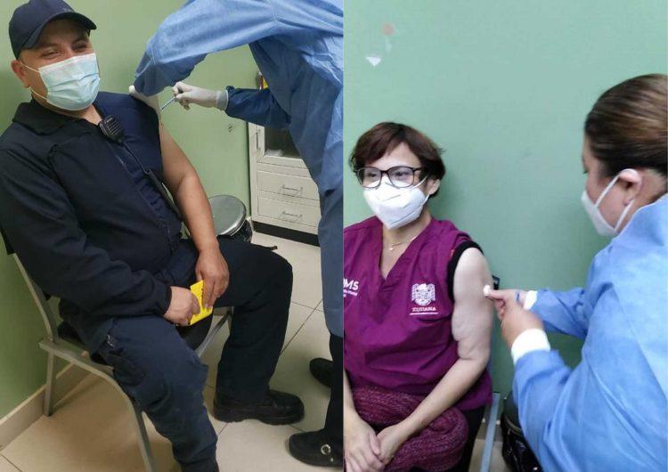Vacunan contra COVID-19 a personal de salud y bomberos de Tijuana en primera línea