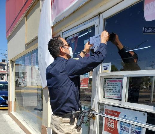 Clausura PROESPA 22 tiendas de conveniencia en Aguascalientes y Jesús María