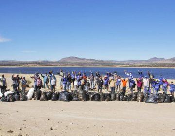 Realizan jornada de limpieza en presa Abelardo L. Rodríguez en Jesús María