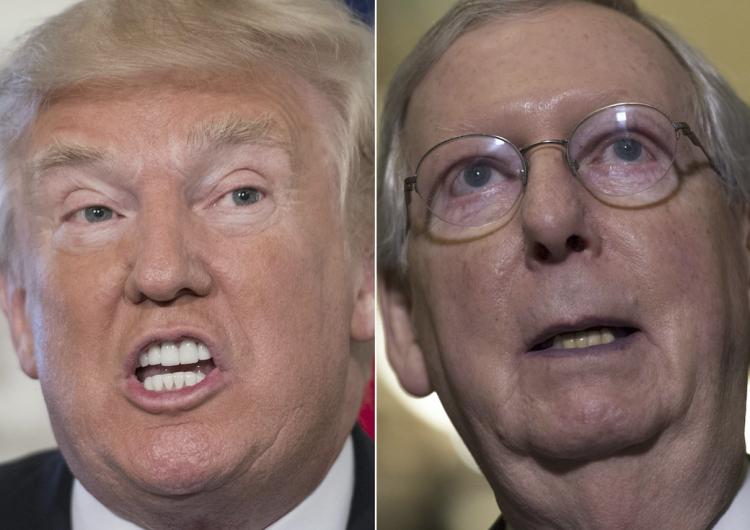 Trump exige a los legisladores republicanos desconocer a su líder en el Senado