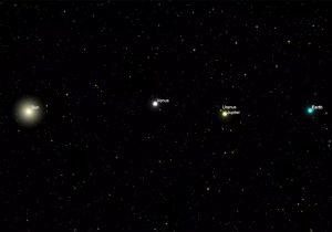 Es falsa la foto de la Tierra, Venus y Júpiter vistos desde Marte