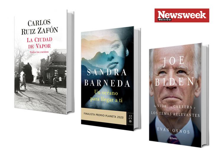 Tres autores: Carlos Ruiz Zafón, Sandra Barneda, Evan Osnos…