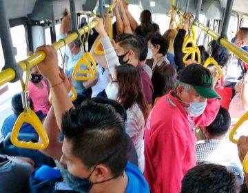 Transporte público, principal foco de contagio Covid en Puebla