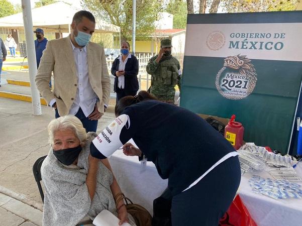Concluyó vacunación de adultos mayores de Pabellón de Arteaga