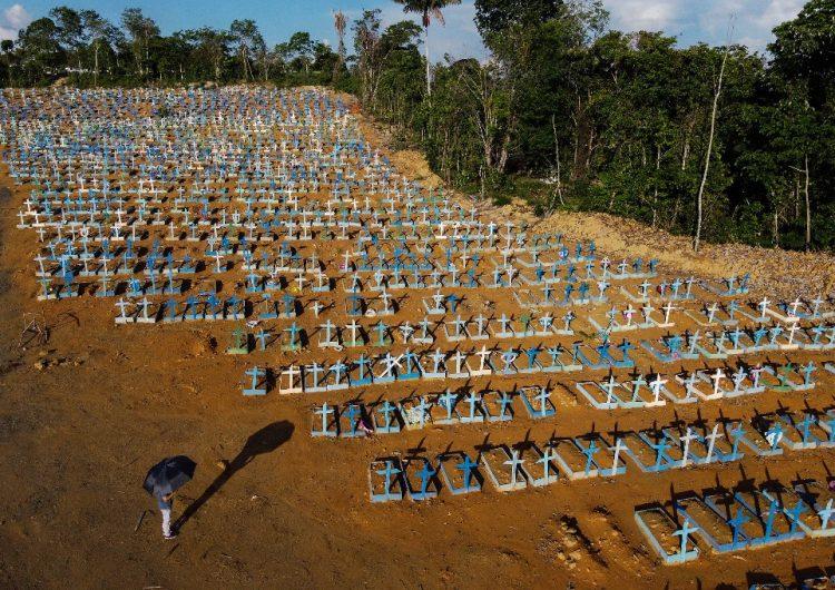 Brasil registra casi 3,800 muertos por coronavirus en un día, un nuevo récord