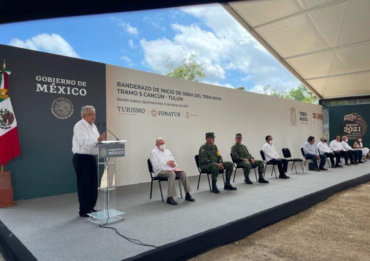 Beneficios del Tren Maya van directo a Sedena