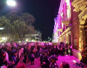 Manifestación #8M termina en caos y represión en Aguascalientes