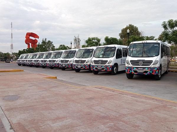 Amplían recorridos de cuatro rutas de camiones urbanos en Aguascalientes