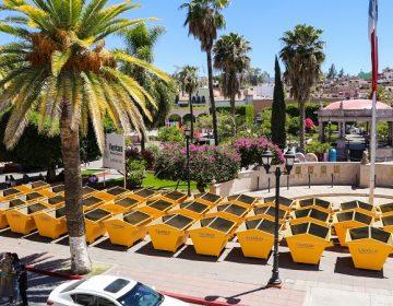 Entregan nuevos contenedores de basura en el municipio de Calvillo