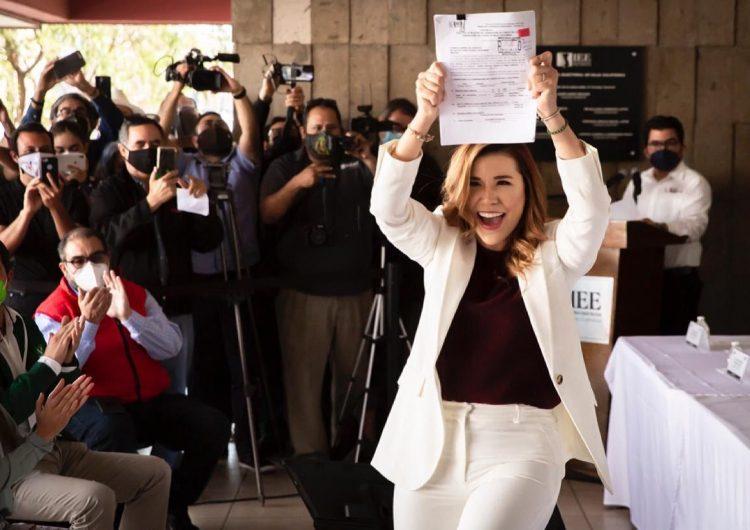 Marina del Pilar registra su candidatura a gobernadora de BC