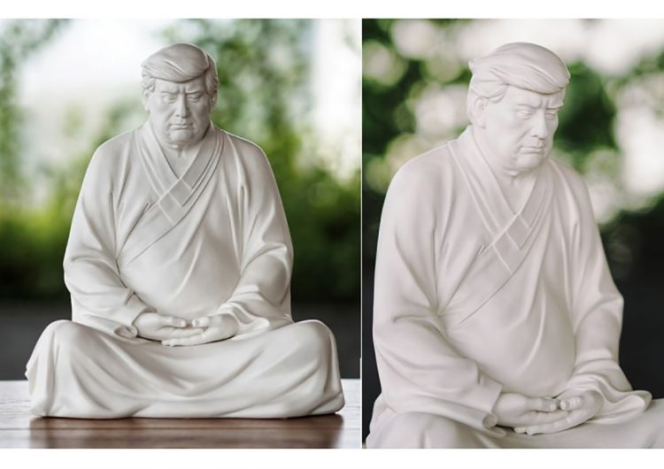 Estatuas de Donald Trump como Buda se venden en toda China