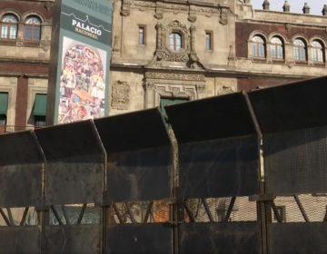 Vallas en Palacio Nacional son contra infiltrados