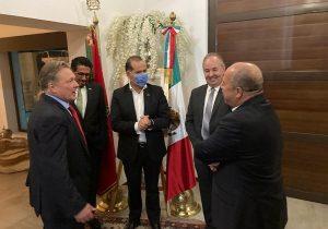 Aborda gobernador de Aguascalientes temas de salud y economía con embajadores