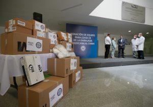Recibe Hospital Hidalgo equipamiento médico de EUA para atender a pacientes de Covid-19