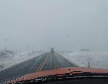 Reabren carretera libre entre La Rumorosa-Tecate tras nevada, autopista sigue cerrada