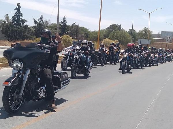 Se reúnen motociclistas para rodada turística en Jesús María
