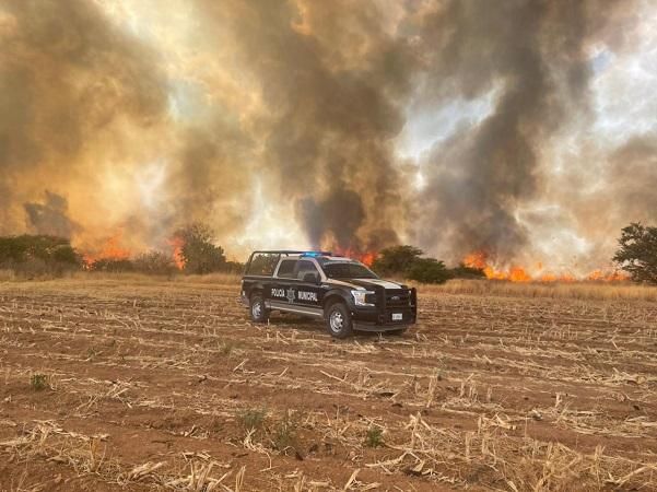 Incendio consume 30 hectáreas de pastizal en Asientos