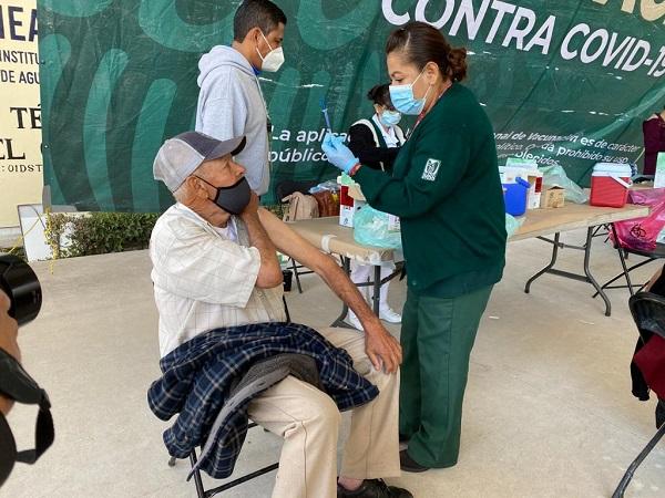 Este jueves continuará vacunación contra el Covid-19 en Pabellón de Arteaga