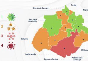 Cinco municipios de Aguascalientes se mantienen en color verde en el IEC