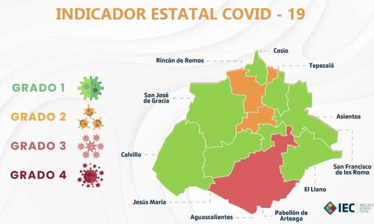 Ya son ocho municipios de Aguascalientes en semáforo verde