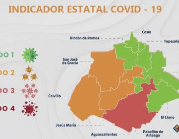 Ya son seis municipios de Aguascalientes en color verde en el Indicador Covid