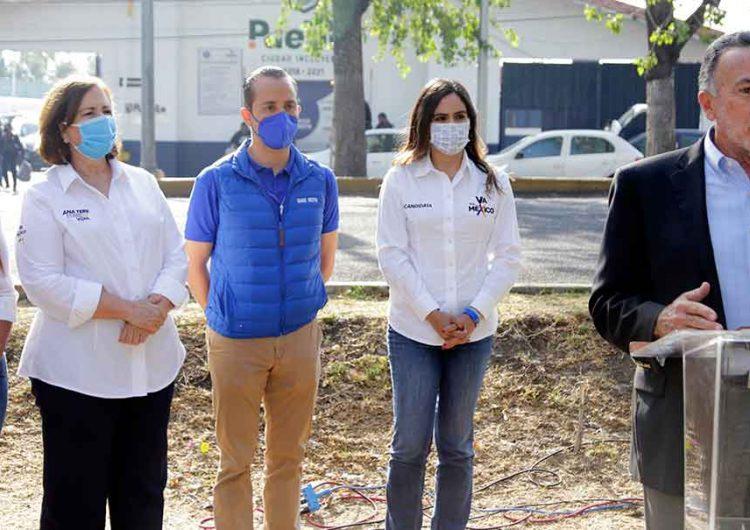 Candidatos de Va por México señalan a Morena Puebla el alza en delitos por retiro de fondos en Seguridad