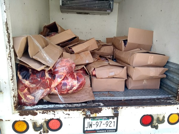 Asegura ISSEA casi una tonelada de carne de res de dudosa procedencia
