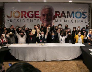 Firma Ramos compromiso con comerciantes y le prometen 50 mil votos