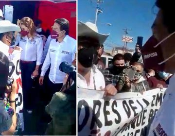 Confrontan morenistas a Mario Delgado por designación de candidatos en BC