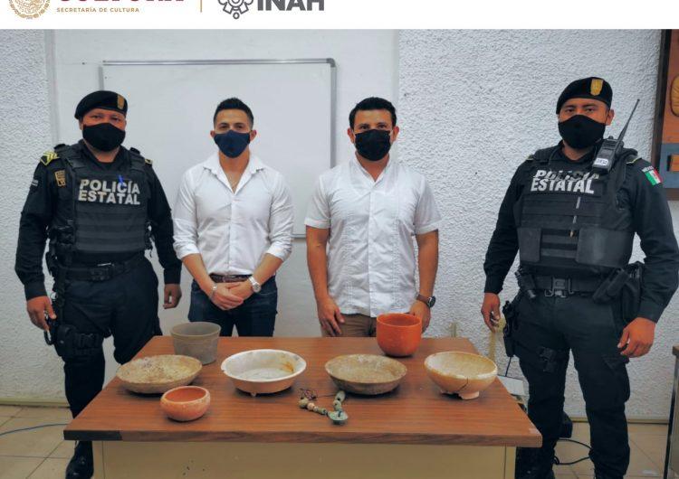 Incauta INAH y policía piezas arqueológicas