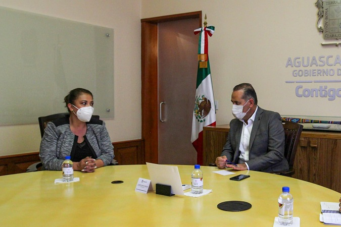 Sostienen reunión gobernador y alcaldesa de Aguascalientes