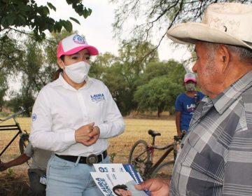 Recorre Laura Ponce delegaciones de Maravillas y San Antonio de los Horcones