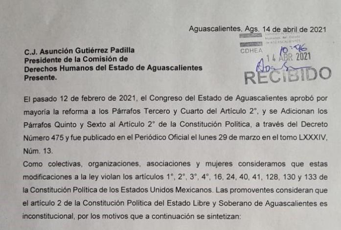 Llega acción de inconstitucionalidad de iniciativa 'provida' a la SCJN