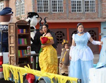 Policías se disfrazan para llevar alegría a niños de Aguascalientes