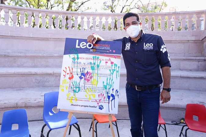 Buscará Leo Montañez un futuro mejor para la niñez de Aguascalientes