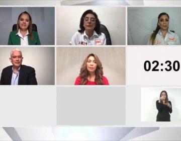 Con ausencia de Montserrat, candidatas cuestionan a Ramos y Bustillos debate
