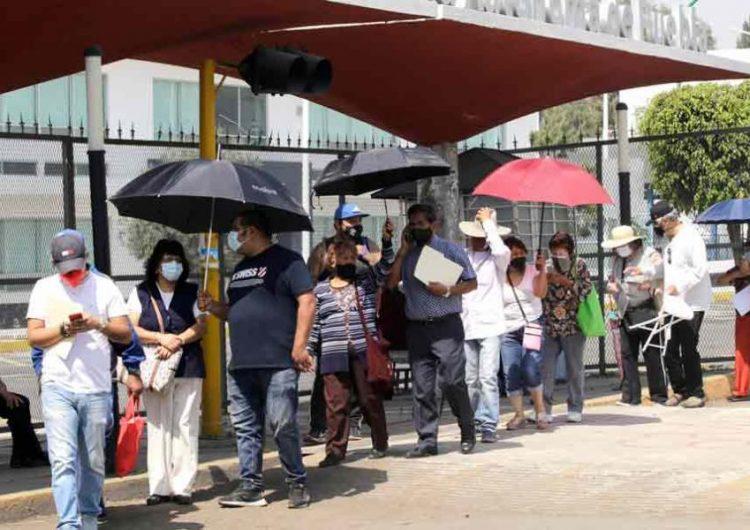 puntos de vacunación contra el Covid en la zona norte de la capital de Puebla