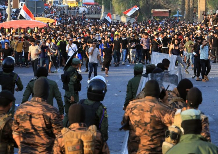 Un muerto y una decena de heridos durante manifestación en Irak