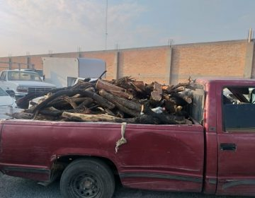 Detienen a talamontes con una tonelada de leña en Aguascalientes