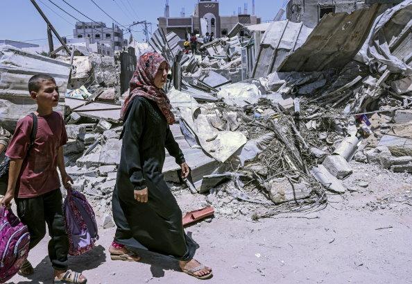 58 niños palestinos y 2 israelíes han muerto tras el conflicto; ONU alerta por escasez de alimentos en Gaza