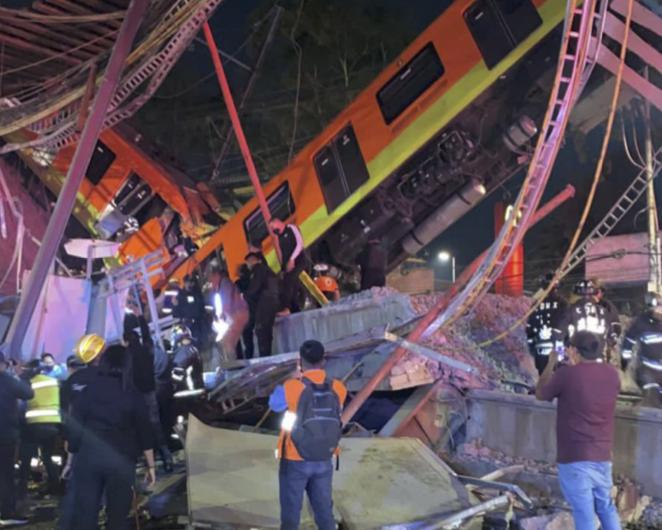 Colapsa estructura de la Línea 12 del metro en CDMX; se reportan 15 decesos al momento