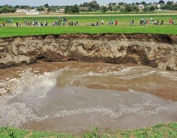 Estudio geohídrico determinará las causas del socavón en Juan C. Bonilla