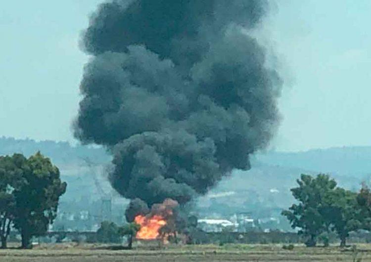 Huachicoleros provocan explosión de ducto de gas de Pemex en Texmelucan, Puebla