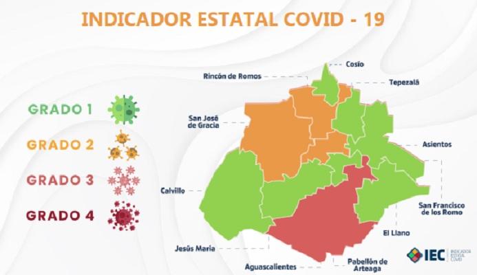 Permanecen siete municipios de Aguascalientes en semáforo verde