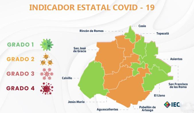 A nivel local, disminuyen municipios en semáforo verde, pero capital sale del naranja